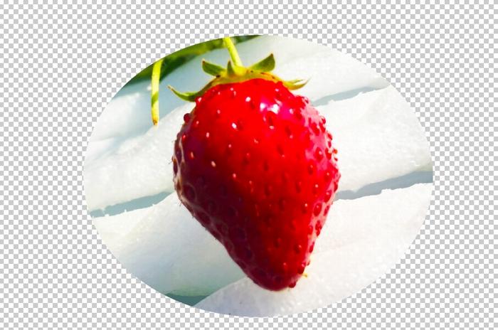イチゴの画像の切抜き