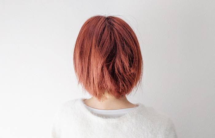 髪の毛を切り抜く練習