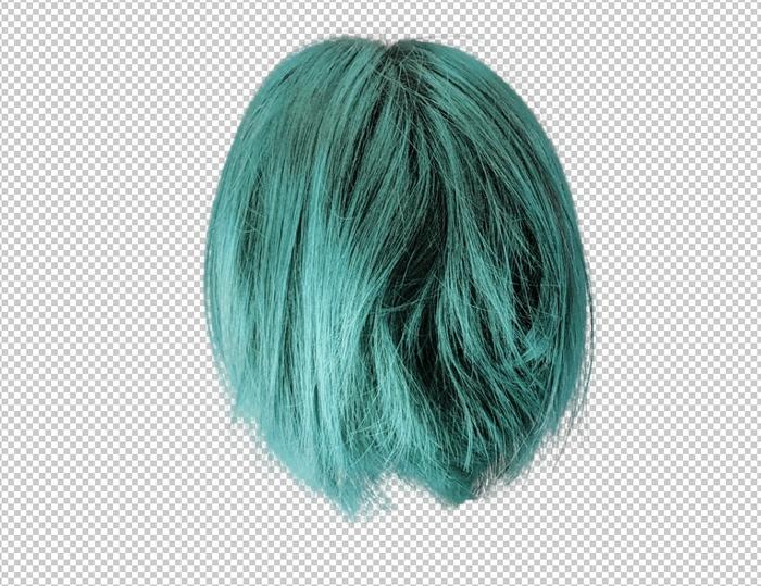 切り抜いた髪の毛を染めてみた