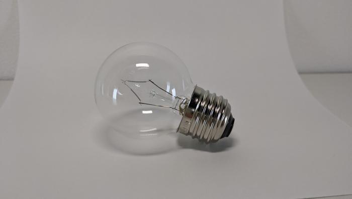 電球を撮影した元写真