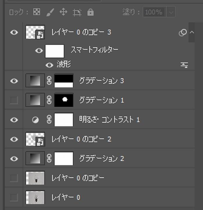 Photoshopの練習レイヤー構造