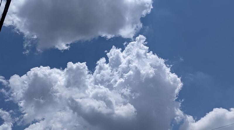 入道雲のレタッチ
