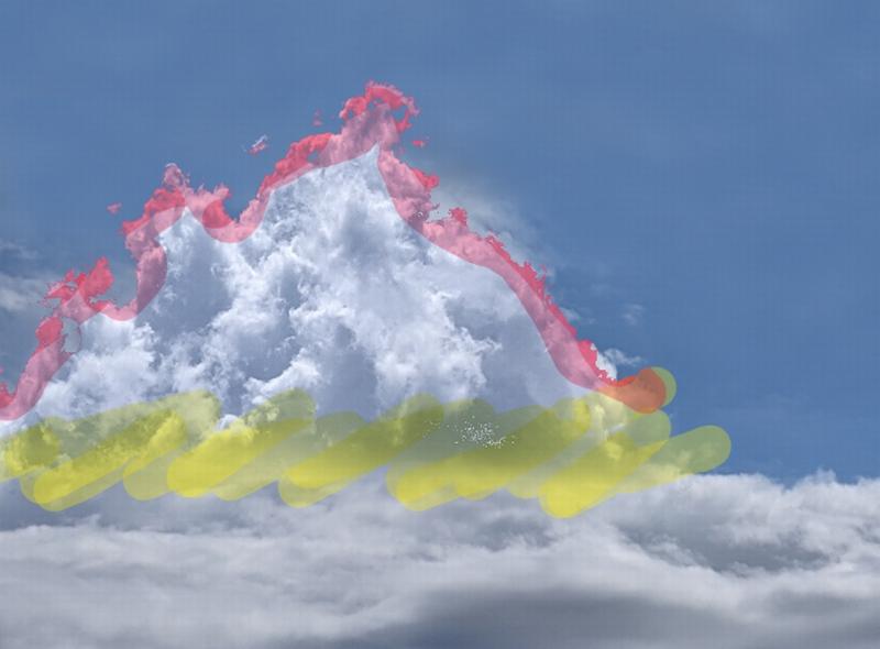 雲の画像を重ねてみた