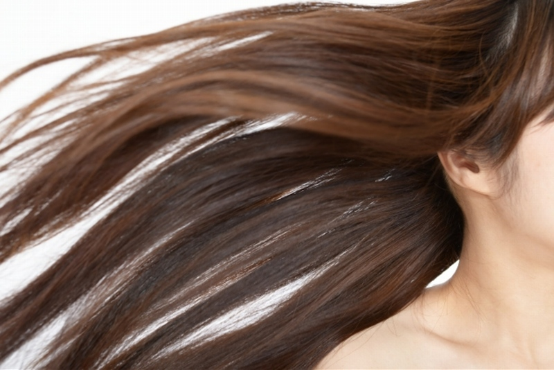 ロン毛のモデルさんの写真