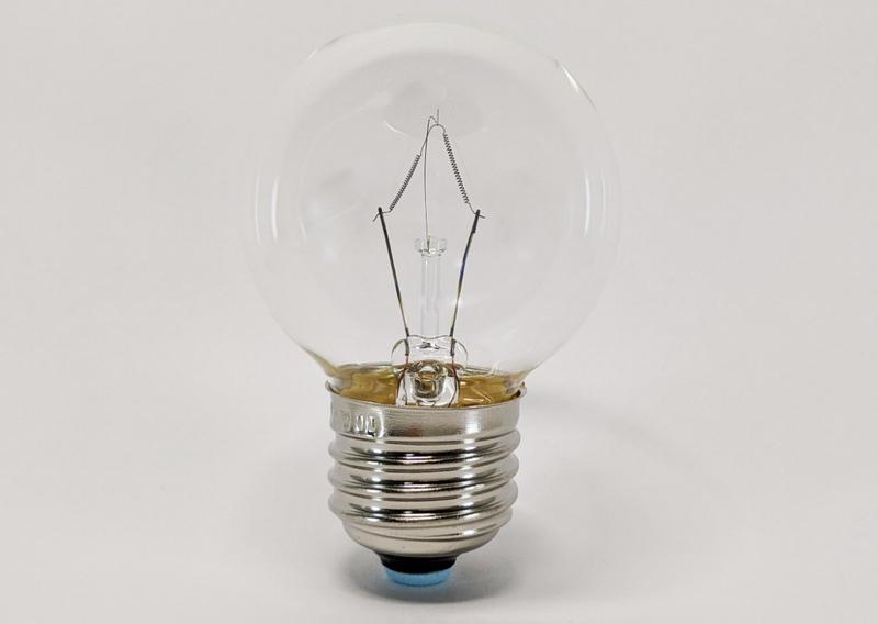 反射を消した電球